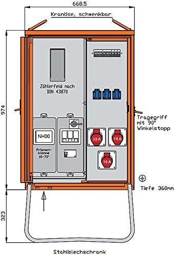 Walther Werke Anschlussverteilerschrank WAV0100BR1