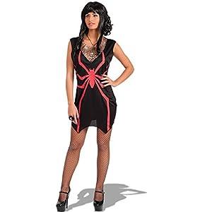 Carnival Toys - Disfraz bruja araña en bolsa, talla única, color rojo (82065)