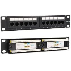 ExcLent Support Mural Pour Rack Réseau Ethernet 12 Panneaux Cat6 Cat5 Rj45 - #2