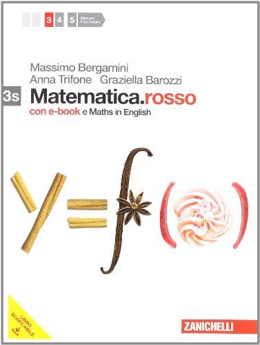 Matematica.rosso. Con Maths in english. Vol. 3s. DVD-ROM. Con espansione online. Per le Scuole superiori
