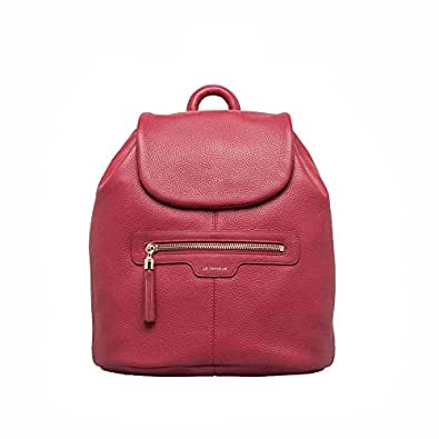 The backpack Tanner Aussois range of leather (red)