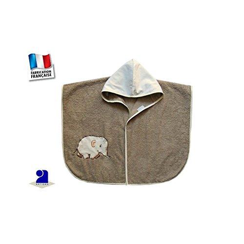 Poussin bleu - Poncho de bain bébé, marron, éléphant Taille - 0 à 24 dbf74530e70