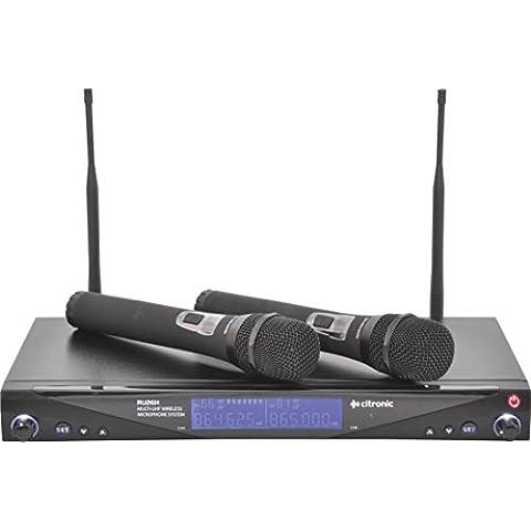 Citronic RU26N - Microfono doble inalambrico de diadema rack