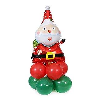 Cosanter Globos de Navidad, Globo de Película de Aluminio y Globo de Látex de Navidad Decoraciones navideñas 74 x 56 cm