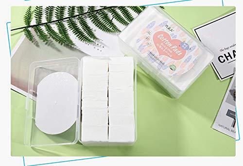Loisleila - 1000 almohadillas de algodón para eliminar maquillaje, suaves almohadillas de algodón...
