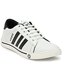Lavista Men's White Synthetic Leather Superster Casual Shoe