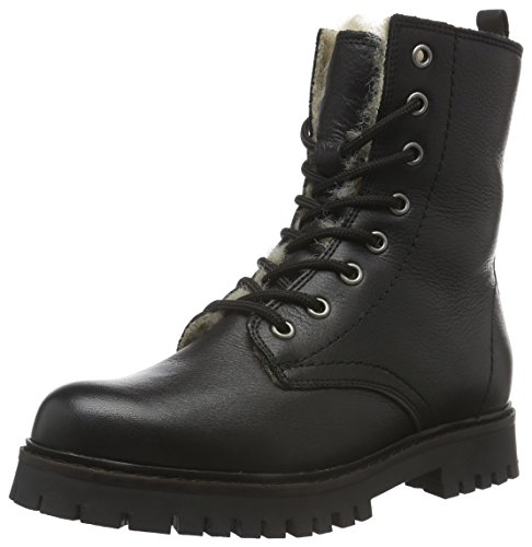 Bianco Damen Warme Military Boots 33-48450 Combat, Schwarz (Black/10), 38 (Military Stiefel Schwarz)