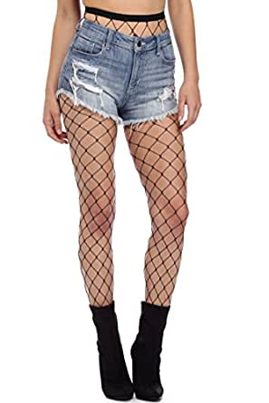 a2833c3752185 ... CLOUDWOOD Women's Cotton Fishnet Stockings (CLWDLEG023, Black, Large)