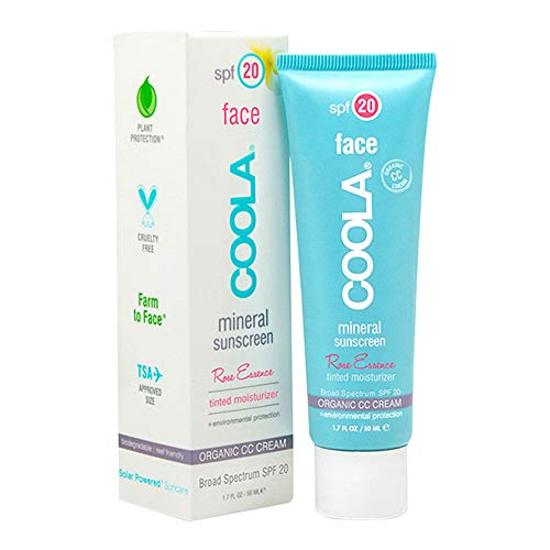 Coola Mineral Collection Face Mineral Sunscreen Rose Essence CC Cream SPF 20 50 ml -