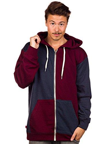 Vans core basics pull à capuche pour homme Multicolore - Rouge/gris-bleu