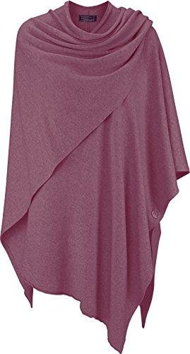 Poncho für Damen mit Sommer - Kaschmir / Cashmere von Zwillingsherz ❤ Modischer All-Rounder für Frauen als Alternative zu einem Strickwaren / Pulli / Strick-Pullover / Cap oder Strick-Jacke altrosa (Das Konzert-tour-t-shirt Neue)