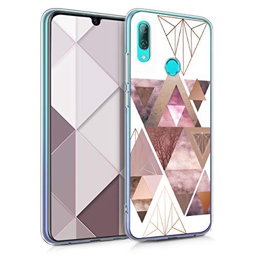kwmobile Huawei P Smart (2019) Hülle - Handyhülle für Huawei P Smart (2019) - Handy Case in Rosa Rosegold Weiß