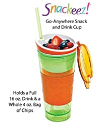 KV CREATION| Snackeez Travel Cup | 2 in 1 Snack & Drink Snackeez Travel Cup in One Container - PURPLE | The All-In-One, Travel Cup Snack Drink Snack And Easy Go Anywhere Snacking Solution