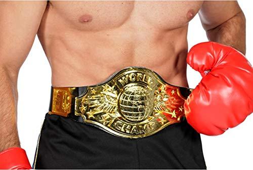 Boxer Boxchampion World Champion Gürtel Boxen Handschuh Boxerhandschuhe Karneval -