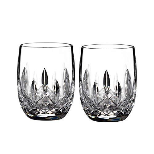 Waterford 40003434 Lismore Trinkglas, abgerundet, ca. 200 ml, Bleikristall, ca. 200 ml, 2 Stück - Die 2 Irish Vol Collection