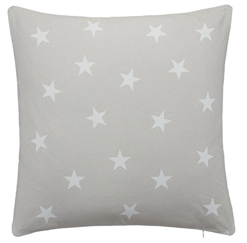 Cojín Couch Cojín Diseño Cojín de sofá estrellas–con Relleno agradable y suave–En Diferentes Colores de Brand sseller, poliéster, gris claro, 45 x 45 cm
