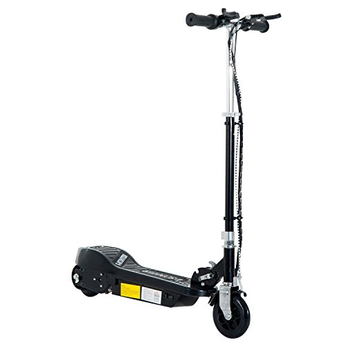 Homcom Elektroroller E-Scooter Roller Cityroller Tretroller Kinder 120W klappbar (Schwarz)