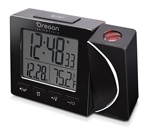 Oregon Scientific RM-512-P Reloj Proyector Radio Controlado, Negro,  100 x 25 x 75mm