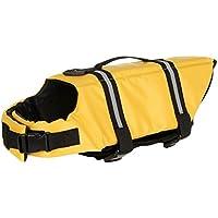 Hony Mascota Chaleco Salvavidas - Perrito Chaleco de Flotación Perro Salvavidas La Seguridad para Nadando con Hebilla Ajustable Capa del Flotador Multi-tamaño