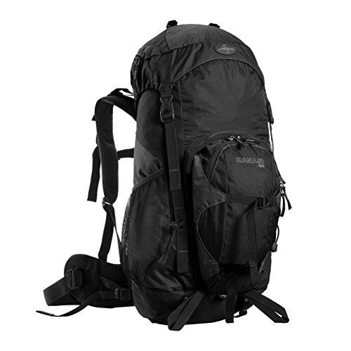 sacchetti di alpinismo professionali / borsa a tracolla all'aperto / grande capienza zaino da viaggio impermeabile-rosso 40L Nero