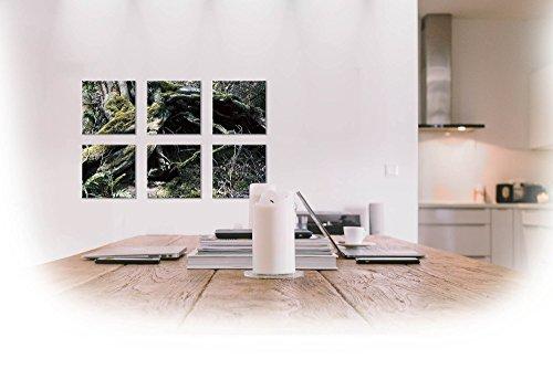 Fotokunst auf Alu-Dibond Butlerfinish® - 6x 10 x 10 cm - Aluminium mit gebürstetem Oberflächenschliff Bild Kunst Büro Geschenk Bad Balkon Terasse Küche -