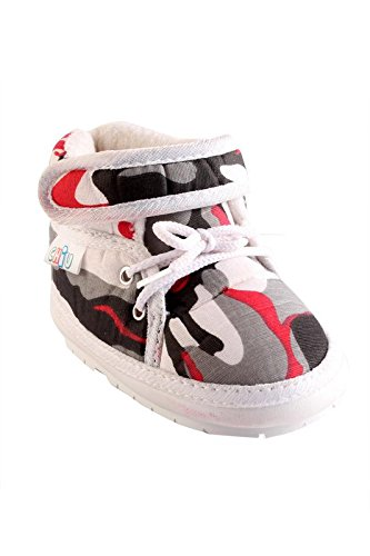 CHiU White Chu-Chu Military Pattern Shoes Velcro With Lace For 12-16 Months