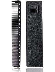 xnicx Schwarz Haarschneidekamm Carbon Kamm Salon Haare schneiden Kamm Stylisten Friseur Barber Kamm