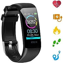 Kolaura Fitness Tracker, Tracker d'activité avec Moniteur de fréquence Cardiaque, Moniteur de Sommeil tensiomètre Step Counter Podomètre Watch pour Femmes Hommes Enfants