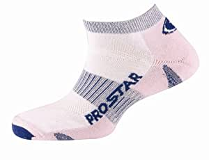 Prostar Dash Trainer Socks White/Pink  Size7-12