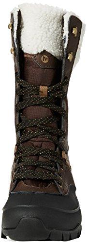Merrell Aurora Tall Ice+ Waterproof, Chaussures de Randonnée Hautes Femme Marron (Espresso)