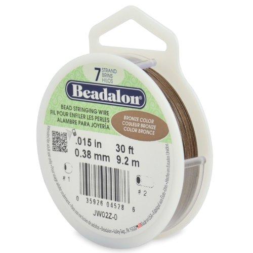 Beadalon Schmuckdraht, 7 Stränge, 0,38 mm, 9,1 m, bronzefarben (Beadalon 7 Strang)