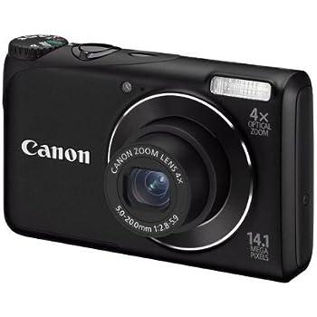 """Canon PowerShot A2200 - Cámara compacta de 14.1 MP (pantalla de 2.7"""", zoom óptico 4x), negro [importado]"""