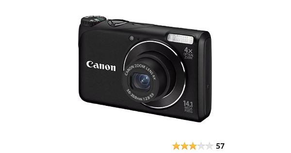 Canon Powershot A2200 Digitalkamera 2 7 Zoll Schwarz Kamera
