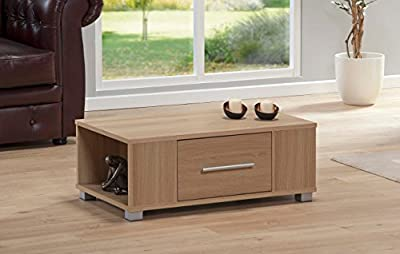 Coffee Table Oak 1 Drawer Occasional Reception Table Silver Handles Sorrento - cheap UK coffee table store.