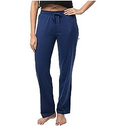Nite Flite Women's Dark Blue Cotton Pajamas