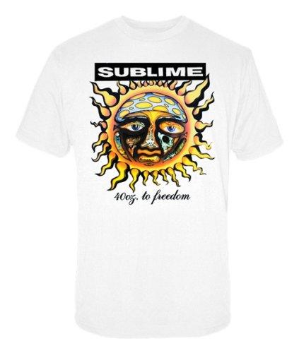 Preisvergleich Produktbild Sublime - - 40oz To Freedom Erwachsene T-Shirt in Weiß,  Large,  White