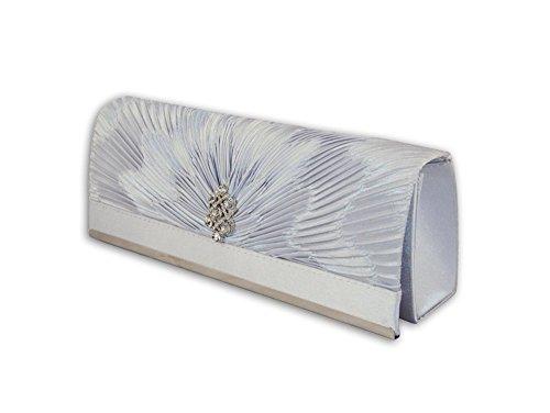 Party XPGG Good gift-Borsa da donna con tracolla, con scritta: evening Clutch bag-015 Nero (argento)
