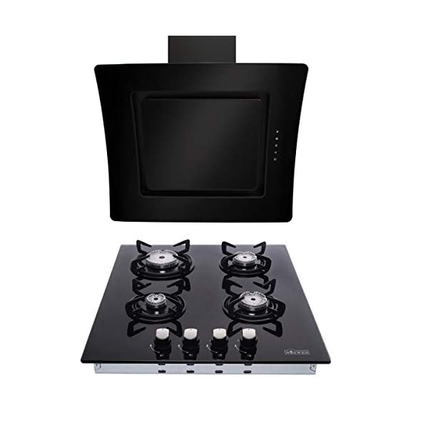 7.5kW Gas Hob Glass on Gas Hob + 630 m³/h Extractor Hood 60cm Range Hood 41HmyJNhwUL