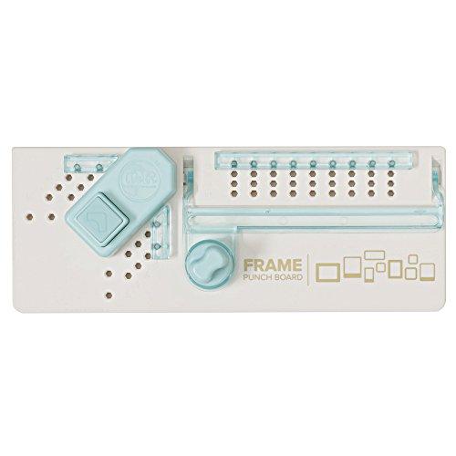 We R Memory Keepers Frame Punch Board, Plastik, weiß, hellblau, 17.5 x 30.6 x 5.5 cm