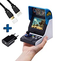 SNK NEO GEO Mini International Konsole 40 th anniversairy Edition inkl. 7m HDMI KABEL, HDMI Mini Adapter und AC ADAPTER/ USB NETZTEIL