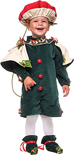 Carnevale Venizano CAV53887-1 - Kleinkindkostüm FUNGHETTO NEONATO - Alter: 0-3 Jahre - Größe: 1 (Carnevale Kostüm Neonato)
