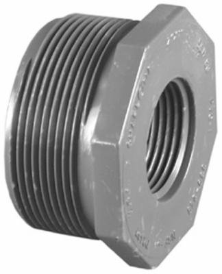 1-1/2 x 1-Inch PVC Schedule 80 MPT x FPT Reducer Bushing (Flush Style)