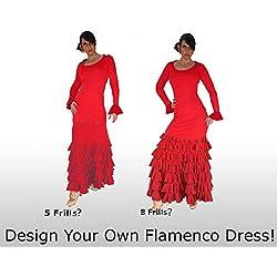 ¡Diseña tu Traje de Flamenca a tu gusto! De Manga Larga. Producción Express!