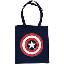 bolsa de yute Capitán América con el logotipo azul Elbenwald
