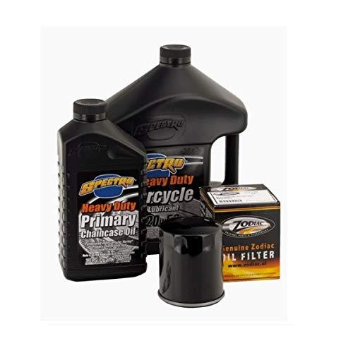 Kit Tagliando Spectro Olio Motore 20W-50 + Primaria + Cambio + Filtro Olio Cromato + Candele x Harley Sportster dal 1984 ad Oggi
