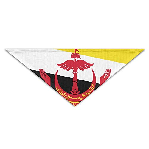 rwwrewre Hundehalsbänder Hunde Halstuch,Flag of Brunei Bandana Triangle Neckerchief Bibs Scarfs Accessories for Pet Cats and Baby Puppies The Saliva Dog Towel,Soft Head Scarfs Accessories Pet bib Pet -