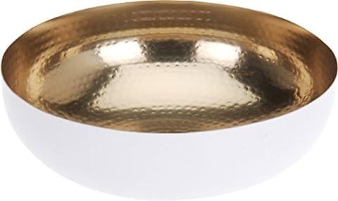 Dekoschale 21 cm lebensmittelecht weiß gold Schale Teller Deko