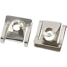 sourcingmap® 40Stk. silbern U-Typ Niete Tür Paneel Schraube Verschluss Klammer 9mm Loch