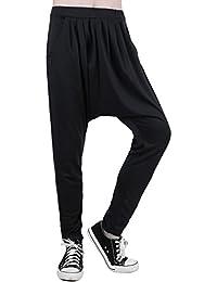 Allegra K Homme Elégant Hip Hop Confort Grand Pantalon Bouffant Eccrx