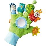 HABA 5797 - Speelhandschoen, toverwoudvrienden, babyspeelgoed met vele effecten om te voelen, te zien en te lussen, stoffen handschoen met optische en akoestische elementen, vanaf 6 maanden